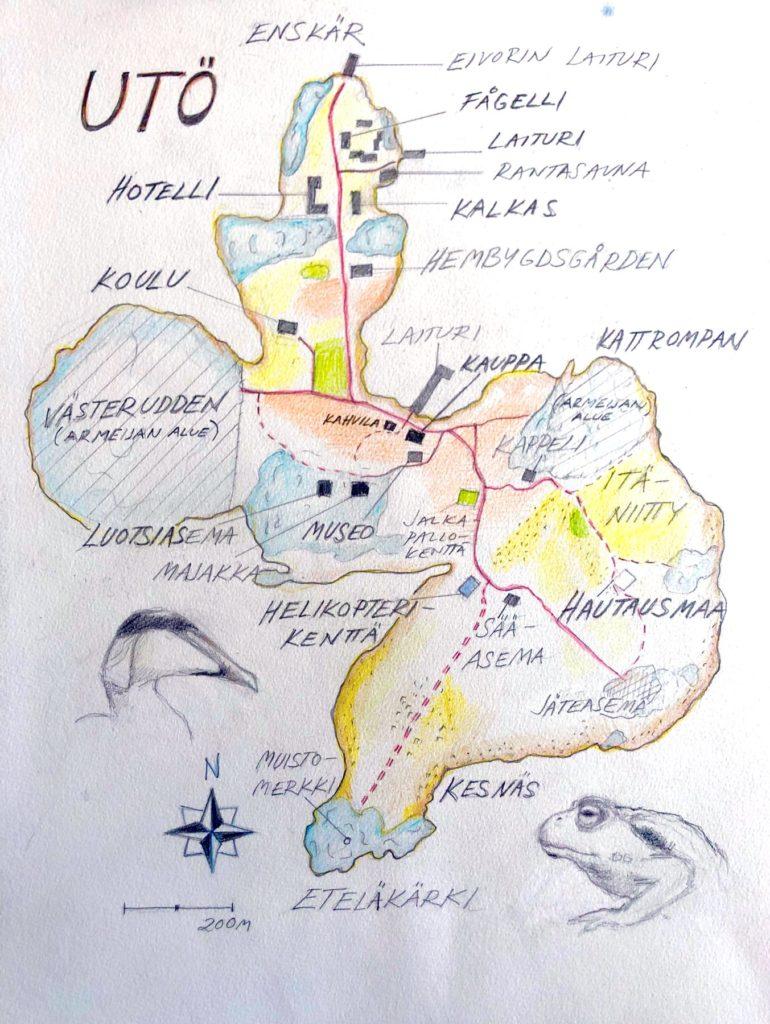 Utö - Kartta